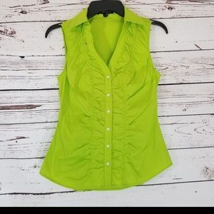 ⚡ LIME GREEN EXPRESS SLEEVELESS BLOUSE Xs